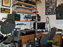 my little corner of the world where I do my recording its a little cluttered but ive been creating