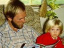Bryan reading to his niece. Mid 70s.