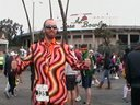 This is how I ran the Rose Bowl Half-Marathon, 13.1 miles in a suit! (Made by Loudmouth Golf)