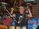 Bob Hill on the drums