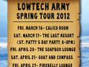 Check out Lowtech Army's spring tour dates!