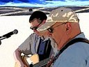 Jim Six with Greg Potter at the Uptown Pitman Music & Arts Festival