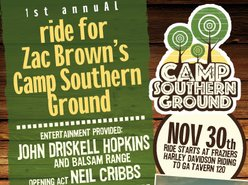 Image for 1st Annual Ride And Concert For Zac Browns Camp Southern Ground
