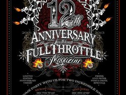 Image for 12th Anniversary Party FULL THROTTLE MAGAZINE Main Event!