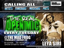 THE REAL OPEN MIC @ MAD FROG
