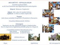 Szent Panteleimon-napi hagyományteremtő rendezvény