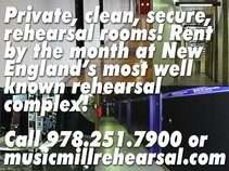 Music Mill Rehearsal Space Studios Practice Rooms MA NH Boston